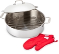 Stainless Steel 6 Qt. French Braiser w/ Mitts