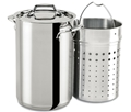 All-Clad 3.3qt. Multipot with Perforated Stainless Steel Insert